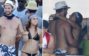 Cadê a Miley? Patrick Schwarzenegger é visto agarradinho com outra mulher no México