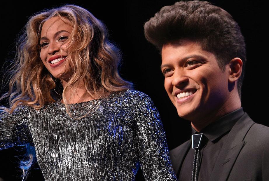 Resultado de imagem para Beyoncé e Bruno Mars