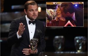 Leonardo DiCaprio vence o prêmio britânico BAFTA com direito a beijinho na Maggie Smith
