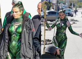 "Elizabeth Banks grava como Rita Repulsa no set do novo ""Power Rangers"""
