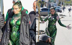 "Elizabeth Banks grava como Rita Repulsa no set do novo ""Power Rangers"""
