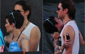 Jared Leto e Halsey são vistos abraçadinhos no Coachella