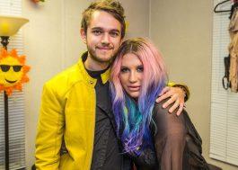 Kesha está gravando em estúdio com o DJ Zedd