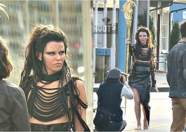"Elizabeth Banks aparece com um segundo novo look de Rita Repulsa no set de ""Power Rangers"""