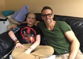 Ryan Reynolds faz homenagem a fã do Deadpool que morreu de câncer