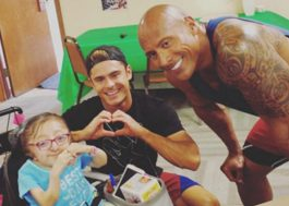 Zac Efron e The Rock realizam desejo de crianças com necessidades especiais