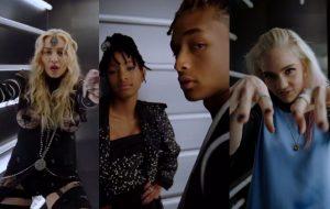 Madonna, Grimes, Jaden com Willow e outros na cabine da fechação do Met Gala