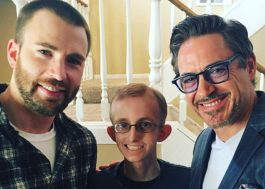 Chris Evans e Robert Downey Jr. visitam fã com câncer