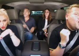 "Gwen Stefani canta ""Hollaback Girl"" com Julia Roberts e George Clooney no karaokê do carro"