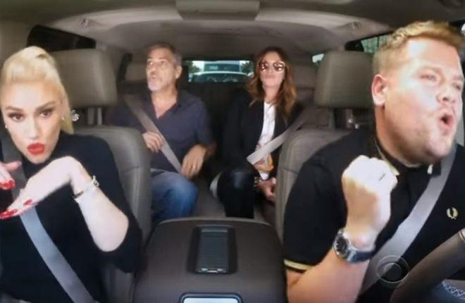 gwen-stefani-julia-roberts-george-clooney-carpool-karaoke