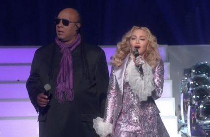 Madonna e Stevie Wonder fazem tributo a Prince