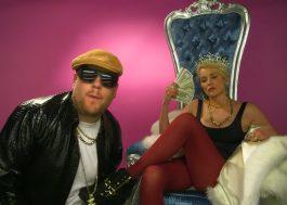 Sharon Stone grava clipe de rap com o James Corden para arrumar um namorado