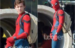 """Tom Holland aparece pela primeira vez vestido de Homem-Aranha no set de """"Homecoming"""""""