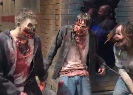 """Um passeio pós-apocalíptico na atração de """"The Walking Dead"""" da Universal Studios"""