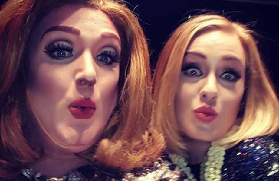 Adele pira ao conhecer Drag Queen que a imita em show
