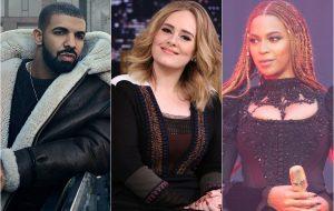 Drake, Adele e Beyoncé lideram as vendas de álbuns em 2016 até agora