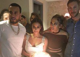 J-Lo comemora aniversário em Vegas com Kim Kardashian e Calvin Harris