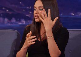 Mila Kunis revela que a aliança do seu casamento com Ashton Kutcher não custou nem 100 dólares