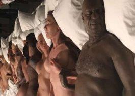 """Kanye West abre mostra de arte secreta com figuras de cera do vídeo """"Famous"""""""