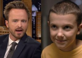"Aaron Paul, de ""Breaking Bad"", é doido por ""Stranger Things"" e quer adotar a Eleven"