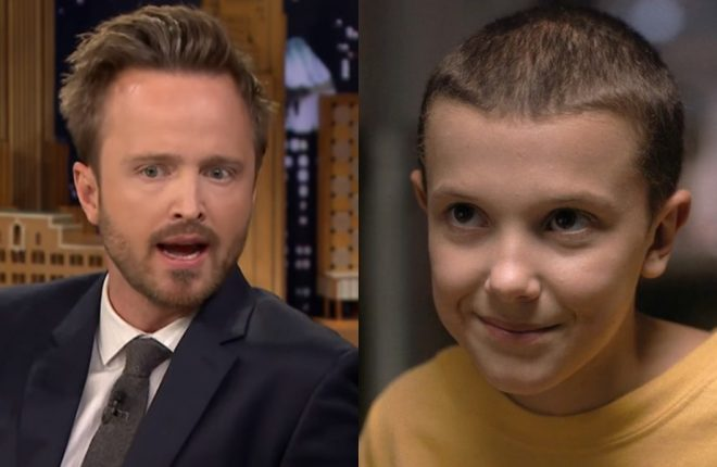 aaron-paul-millie-bobby-brown