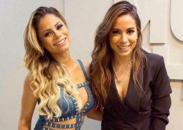 """Anitta e Lexa aparecem bem migas e dividem o palco no """"Música Boa ao Vivo"""""""