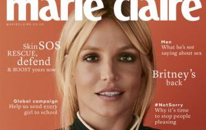 Capa da Marie Claire UK, Britney fala sobre mudanças na vida e encontros ruins