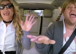 "Britney Spears canta hits e se solta no ""Carpool Karaoke"""