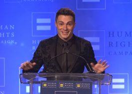 Colton Haynes é homenageado por dar visibilidade à causa LGBT e faz discurso emocionante