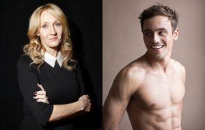 J.K. Rowling defende Tom Daley de comentários homofóbicos
