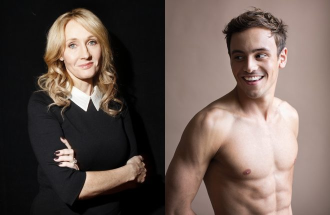 j k rowling tom daley