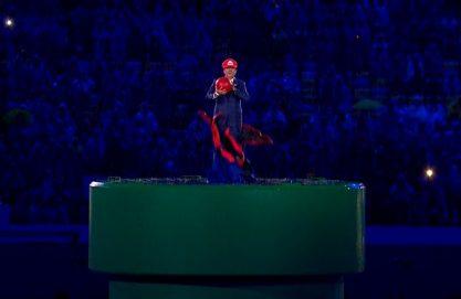 Super Mario no encerramento da Rio 2016