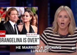 """""""Ele casou com uma maldita lunática"""", diz Chelsea Handler sobre relação de Brad Pitt com Angelina Jolie"""