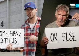 """Ryan Gosling e Harrison Ford convidam fãs para conhecer o set de """"Blade Runner 2"""" em campanha"""