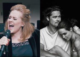 """Adele esclarece brincadeira com término de Brangelina: """"Eu não me importo"""""""