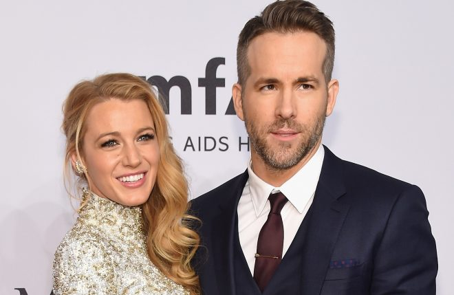 NEW YORK, NY - FEBRUARY 10:  Actors Blake Lively (L) and Ryan Reynolds attend 2016 amfAR New York Gala at Cipriani Wall Street on February 10, 2016 in New York City.  (Photo by Michael Loccisano/Getty Images)