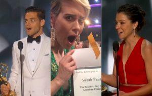 "Emmy 2016: ""American Crime Story"" domina; Tatiana e Rami Malek arrasam!"