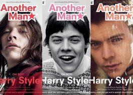 """Harry Styles está lindíssimo em três capas diferentes da revista """"Another Man""""!"""