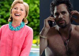 Hillary Clinton aprova Mark Ruffalo peladão se Donald Trump perder a eleição