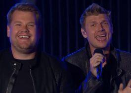 "Maravilhoso! James Corden canta ""Everybody"" com os Backstreet Boys"