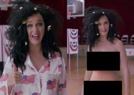 Katy Perry quer tanto votar nas eleições que vai nua! É tudo brincadeira, claro!