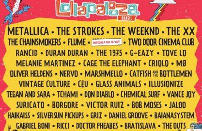 Saiu o line up do Lollapalooza!