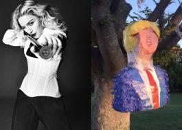 Madonna fez uma piñata do Donald Trump para comemorar aniversário do filho!
