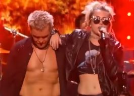 "Miley Cyrus toda rockeira cantando ""Rebel Yell"" com o Billy Idol"