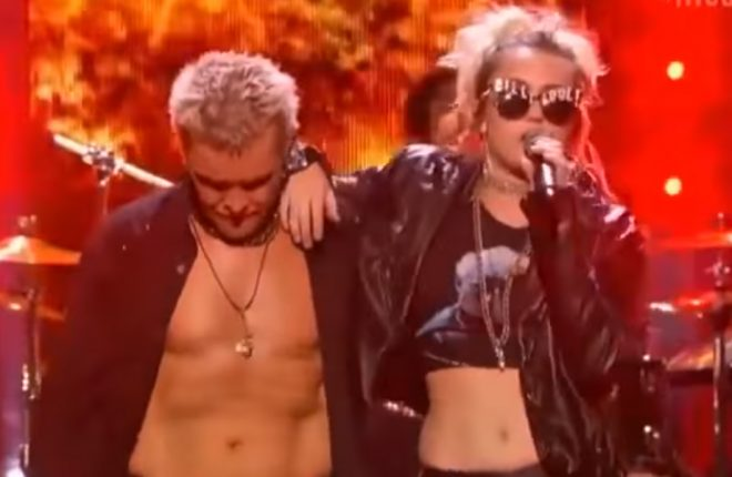 miley-billy-idol