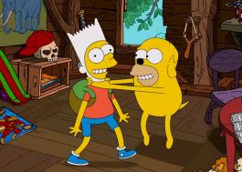 """Que incrível a abertura do crossover de """"Os Simpsons"""" com """"Hora de Aventura"""""""
