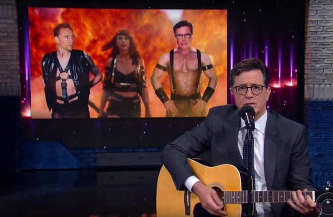 stephen-colbert-fim-namoro-taylor-swift-tom-hiddleston