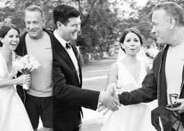 Você está casando no parque e, de repente, o Tom Hanks invade a cerimônia!
