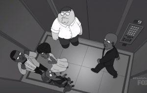 """""""Family Guy"""" faz paródia incrível de briga entre Solange e Jay Z no elevador"""