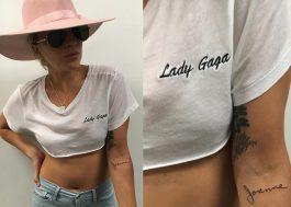 Lady Gaga e seu pai fazem tatuagem em homenagem à tia Joanne